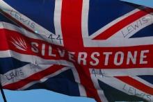 Lewis Hamilton, Mercedes AMG F1 flag