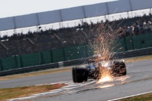 Sparks from the cars