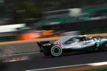 Sparks from the cars at Silverstone - Lewis Hamilton, Mercedes AMG F1