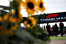 Silverstone F1 paddock