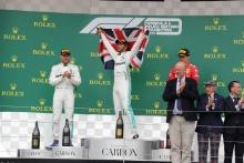 Podium (l-r) Valtteri Bottas (FIN) Mercedes AMG Petronas Motorsport, Lewis Hamilton (GBR) Mercedes AMG Petronas Motorsport, Charles Leclerc (FRA) Scuderia Ferrari Mission Winnow