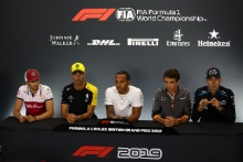 Drivers in the press conference
