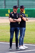 Max Verstappen (NED) Aston Martin Red Bull Racing and Pierre Gasly (FRA) Aston Martin Red Bull Racing
