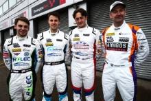 Jake Hill (GBR) TAG Racing Volkswagen CC, Mike Bushell (GBR) Team Hard Volkswagen CC, Bobby Thompson (GBR) Team Hard Volkswagen CC  and Michael Caine (GBR) Team Hard Volkswagen CC