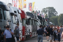 BTCC Trucks in the paddock
