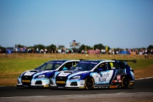 Ash Sutton (GBR) Team BMR Subaru Levorg and Jason Plato (GBR) Team BMR Subaru Levorg