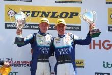 Ash Sutton (GBR) Team BMR Subaru Levorg and Jason Plato (GBR) Team BMR Subaru Levorg