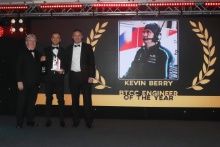 Colin Turkington collect the BTCC Engineer Award for Kevin Berry
