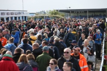 BTCC Fand and Crowd at Thruxton