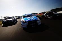 Glynn Geddie (GBR) - Team HARD Cupra Leon, Aiden Moffat (GBR) - Laser Tools Racing Infiniti Q50, Tom Chilton (GBR) - Ciceley Motorsport BMW 330i M Sport