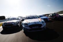 Jack Goff (GBR) - Team HARD Cupra Leon, Ollie Jackson (GBR) - MB Motorsport Ford Focus ST, Aiden Moffat (GBR) - Laser Tools Racing Infiniti Q50  and Tom Oliphant (GBR) - Team BMW BMW 330i M Sport