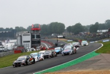 Race 2 start, Daniel Rowbottom (GBR) - Team Dynamics Honda Civic Type R