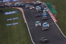 race start, Adam Morgan (GBR) - Ciceley Motorsport BMW 330i M Sport  leads