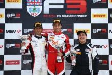 Krish Mahadik (IND) Double R BRDC British F3, Manuel Maldonado (VEN) Fortec Motorsport BRDC British F3, Sasakorn Chaimongkol