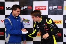 Nicolai Kjaergaard (DEN) Carlin BRDC British F3 and Linus Lundqvist (SWE) Double R BRDC British F3