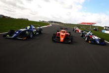 Kaylen Frederick (USA) Carlin BRDC F3, Benjamin Pedersen (DK) Douglas Motorsport BRDC F3, Neil Verhagen (USA) Double R BRDC F3 British F3 Tracking