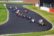 Start of Race 3, Ayrton Simmons (GBR) Chris Dittmann Racing BRDC F3 leads