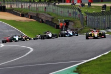 Start of Race 1, Ayrton Simmons – CDR BRDC F3 leading