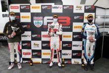 Jose Garfias (MEX) - Elite Motorsport BRDC F3, Christian Mansell (AUS) - Carlin BRDC F3 and Dexter Patterson (GBR) - Douglas Motorsport BRDC F3