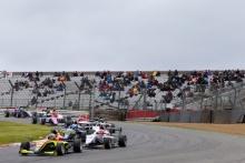 Start, Ayrton Simmons (GBR) - Chris Dittman Racing BRDC F3 leads