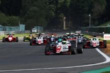 Start of Race 3.  Mikkel Grundtvig (DNK) - Fortec Motorsports BRDC F3
