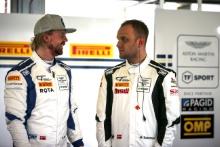 Nicki Thiim TF Spoort Aston Martin V12 Vantage GT3 and Marco SorensenTF Spoort Aston Martin V12 Vantage GT3