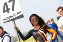 Graham Davidson / Maxime Martin Jetstream Motorsport Aston Martin V12 Vantage GT3 grid girl