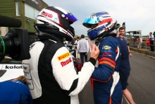 Derek Johnston TF Sport Aston Martin V12 Vantage GT3 and Andrew Howard Beechdean AMR Aston Martin V12 Vantage GT3