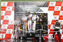 Race 1 GT4 Podium (l-r) Michael O'Brien / Charlie Fagg Tolman Motorsport Ltd McLaren 570S GT4, David Pattison / Joe Osborne Tolman Motorsport Ltd McLaren 570S GT4, Will Moore / Matt Nicoll-Jones Academy Motorsport Aston Martin V8 Vantage GT4