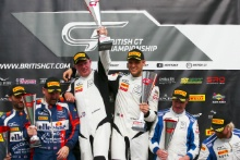 Race 2 GT3 Podium (l-r) Andrew Howard / Darren Turner Beechdean AMR Aston Martin V12 Vantage GT3, Derek Johnston / Marco Sorensen TF Sport Aston Martin V12 Vantage GT3, Mark Farmer / Nicki Thiim TF Sport Aston Martin V12 Vantage GT3