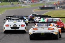 Start of Race 2, Mark Farmer / Nicki Thiim TF Sport Aston Martin V12 Vantage GT3 leads