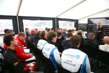 Charlie Martin (GBR) speaks to the British GT drivers