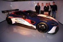 Andrew Howard, John Gaw, Andrew Palmer, David King and Ross Gunn 2019 Beechdean Aston Martin Launch