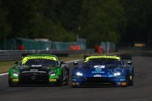 Richard Neary / Adam Christodoulou Team ABBA Racing Mercedes-AMG GT3 and Mark Farmer / Nicki Thiim TF Sport Aston Martin V8 Vantage GT3