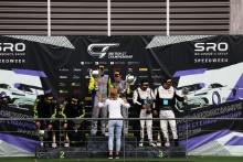GT4 Pro Am Podium (l-r) Steve McCulley / Matthew George Invictus Games Racing Jaguar F-TYPE SVR GT4, Graham Johnson / Michael O'Brien Balfe Motorsport McLaren 570S GT4, Nick Jones / Scott Malvern Team Parker Racing Mercedes-AMG GT4