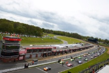 The grid at the start of the race