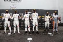 GT4 Pro Am Podium (l-r) Chris Salkeld / Andrew Gordon-Colebrooke - Century Motorsport BMW M4 GT4, Will Burns / Gus Burton - Century Motorsport BMW M4 GT4, James Kell / Jordan Collard - Team Rocket RJN McLaren 570S GT4