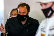 Paul O'Neill in the Century Motorsport garage