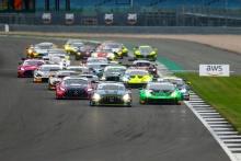 Start of the race, Hunter Abbott / Martin Kodric - 2 Seas Motorsport Mercedes-AMG leads