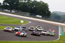 GT4 start, Richard Williams / Sennan Fielding - Steller Motorsport Audi R8 LMS GT4 leads