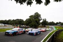 Start of Race 1 - Kelvin Fletcher / Martin Plowman - Paddock Motorsport Bentley Continental GT3 leads