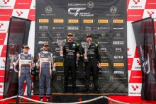 Podium (l-r) Stewart Proctor / Lewis Proctor - Balfe Motorsport McLaren 720S GT3, Richard Neary / Sam Neary - Team ABBA Racing Mercedes-AMG GT3