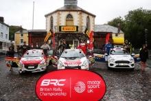 BRC Junior Podium (l-r) William Creighton / Liam Regan Peugeot 208 R2, Josh McErlean / Keaton Williams Peugeot 208 R2, Finlay Retson / Richard Crozier Ford Fiesta R2T