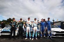 Irish Tarmac podium (l-r) Callum Devine / Brian Hoy Ford Fiesta, Craig Breen / Paul Nagle Hyundai R5, Meirion Evans / Jonathon Jackson Skoda Fabia R5