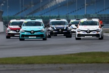 Start of race 1, Gustav Burton (GBR) Team Pyro Renault Clio Cup Junior leads