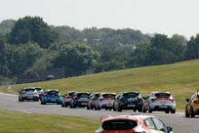 Start, Max Coates (GBR) Team Pyro Renault Clio Cup leads