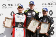 Max Coates - Team Hard - Clio Cup  Jack Young -  M.R.M. Clio Cup  Brett Lidsey - M.R.M. Clio Cup