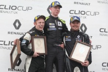 Ben Colburn - Westbourne Motorsport -  Clio Cup  Jack Young -  M.R.M. Clio Cup  Brett Lidsey - M.R.M. Clio Cup