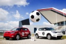 Silverstone Classic Media Day 2016,Silverstone Circuit, Northants, England. 27th April, 2016SsangYong and the World Cup Copyright Free for editorial use