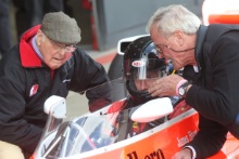 Silverstone Classic Media Day 2016,Silverstone Circuit, Northants, England. 27th April, 2016Murray Walker, Freddie Hunt, Alasdair CaldwellCopyright Free for editorial use